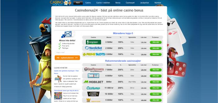 Casinobonus24.se hemsida 2015